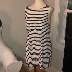 Silk stripe dress Jcrew